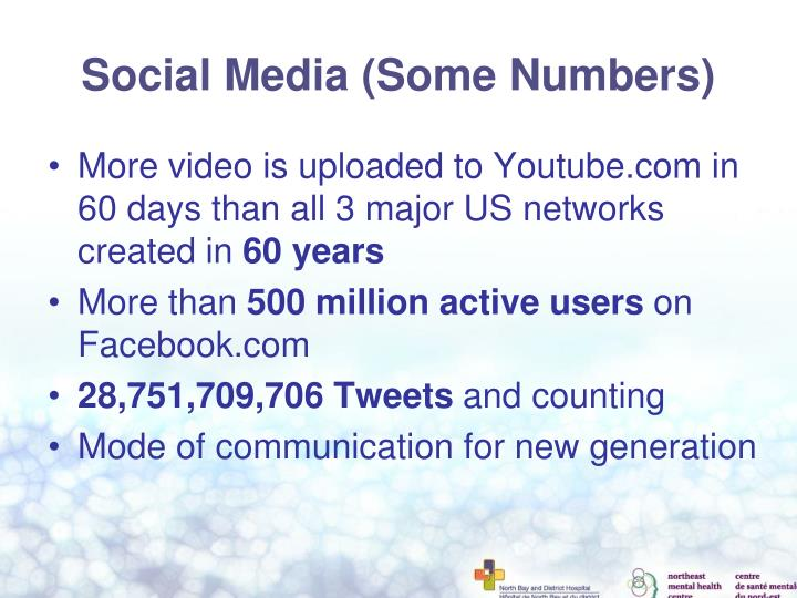 Social Media (Some Numbers)