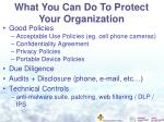 what you can do to protect your organization1