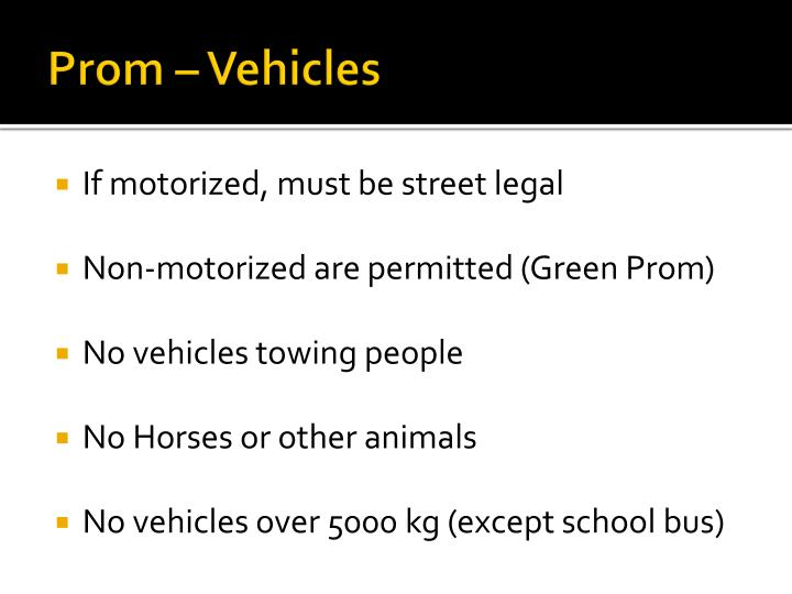 Prom – Vehicles