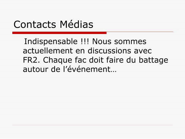 Contacts Médias