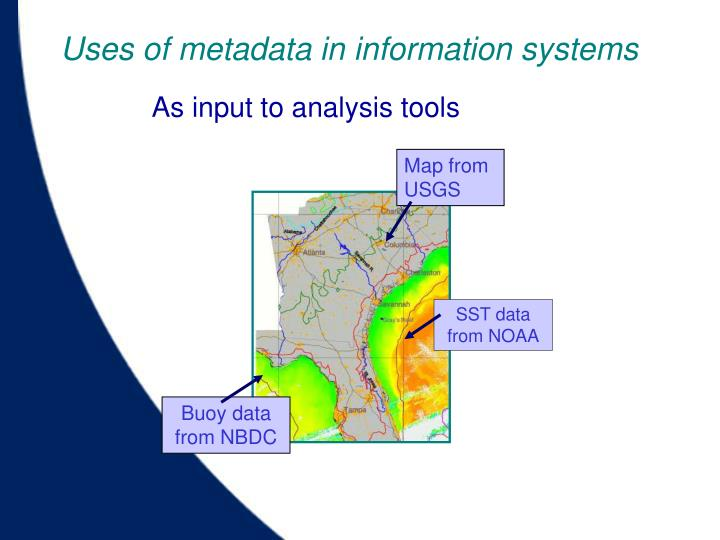Uses of metadata in information systems