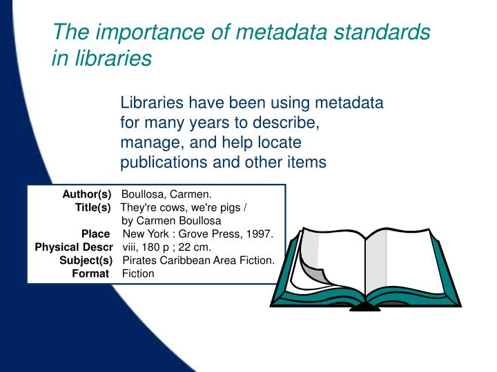 The importance of metadata standards in libraries
