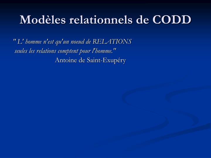 Modèles relationnels de CODD