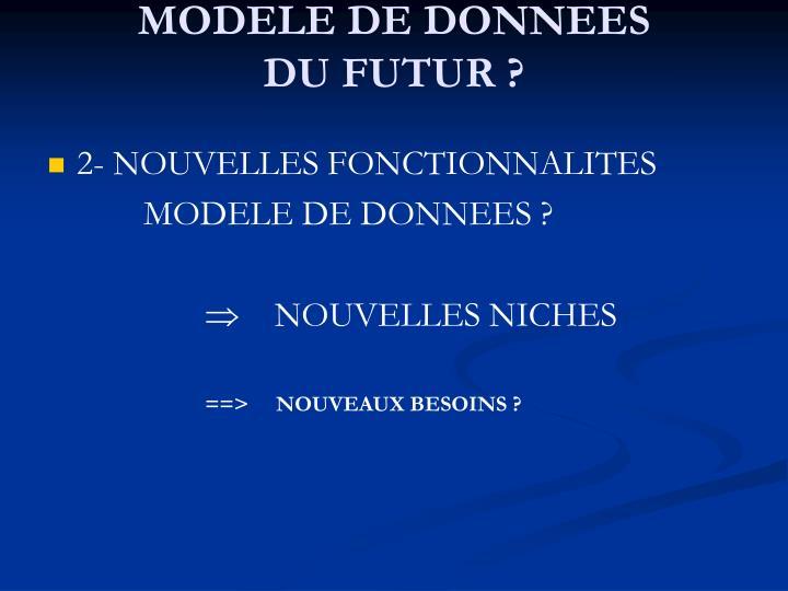 MODELE DE DONNEES