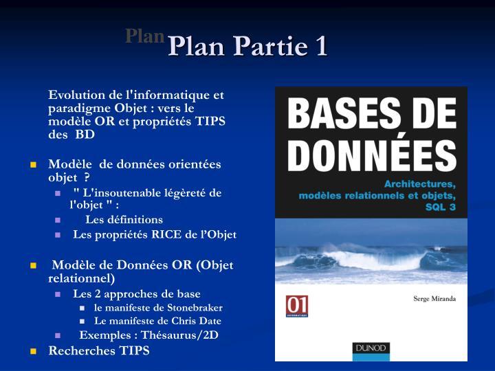 Plan Partie 1