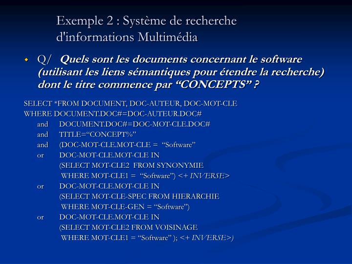 Exemple 2 : Système de recherche