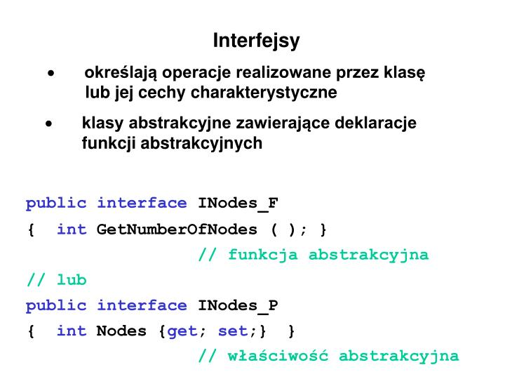 Interfejsy