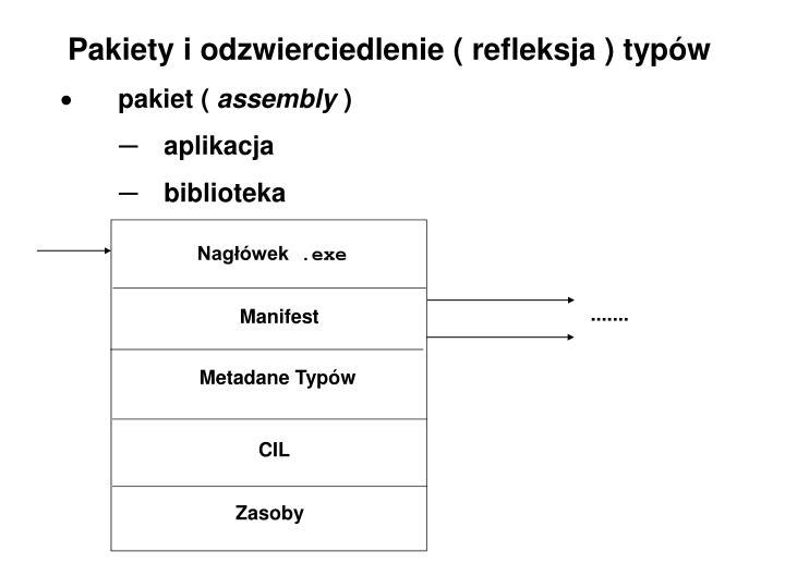 Pakiety i odzwierciedlenie ( refleksja ) typów