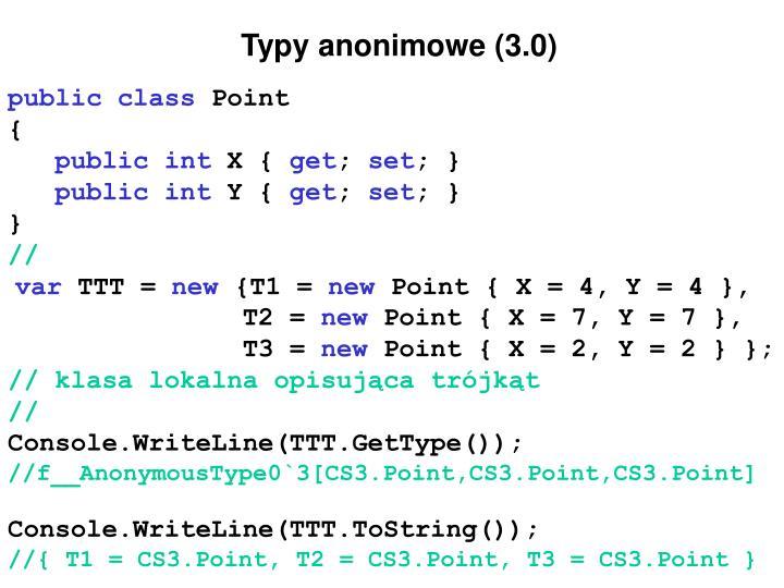 Typy anonimowe (3.0)