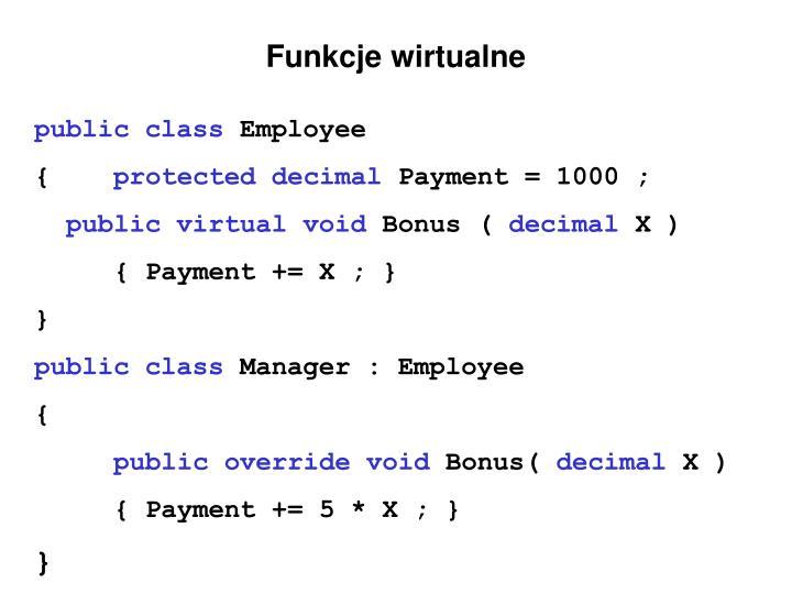 Funkcje wirtualne
