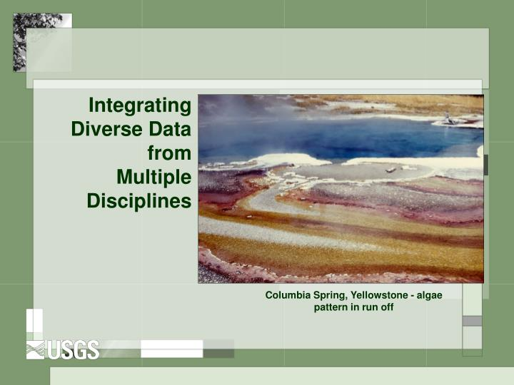 Integrating Diverse Data from Multiple Disciplines