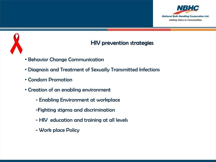 HIV prevention strategies