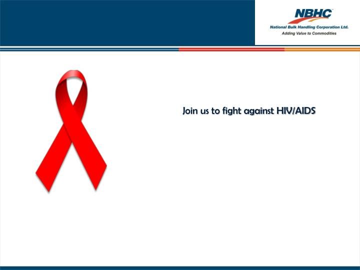 Join us to fight against HIV/AIDS