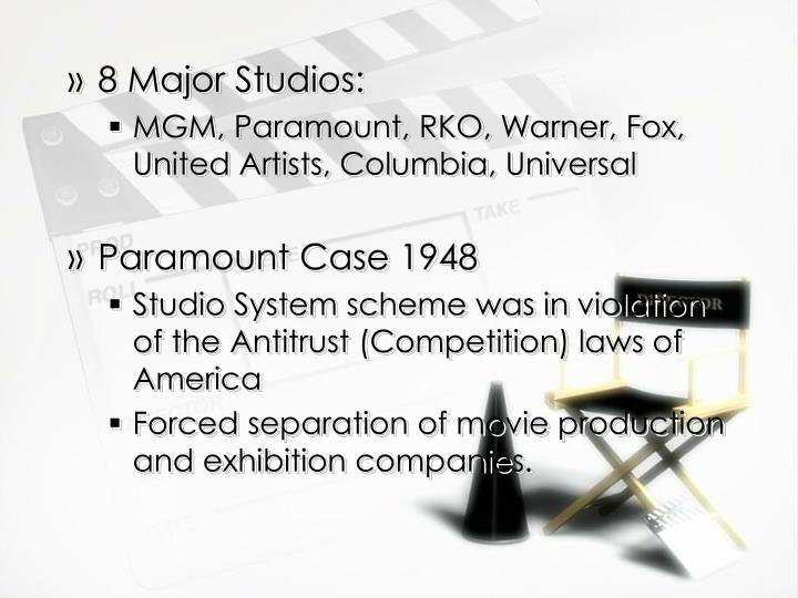 8 Major Studios: