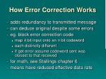 how error correction works