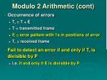 modulo 2 arithmetic cont