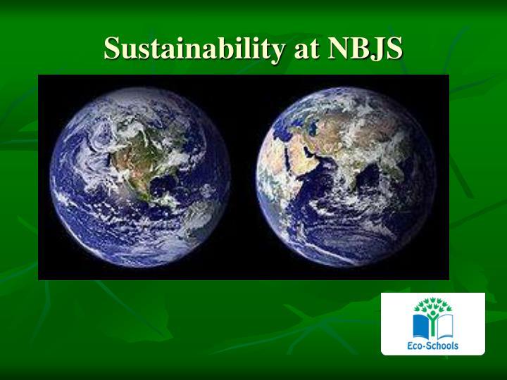 Sustainability at NBJS