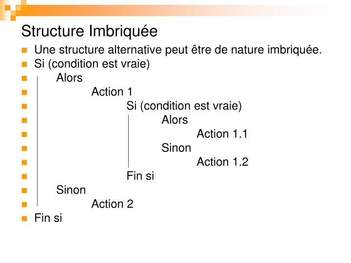 Structure Imbriquée