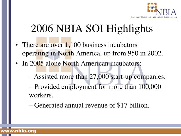 2006 NBIA SOI Highlights