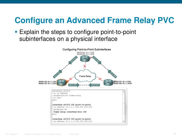 Configure an Advanced Frame Relay PVC