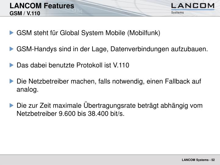 LANCOM Features