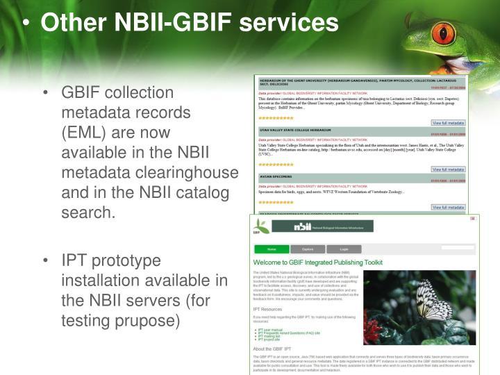 Other NBII-GBIF services
