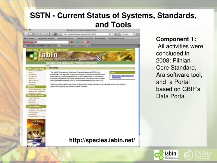 SSTN - Current Status of Systems, Standards, and Tools