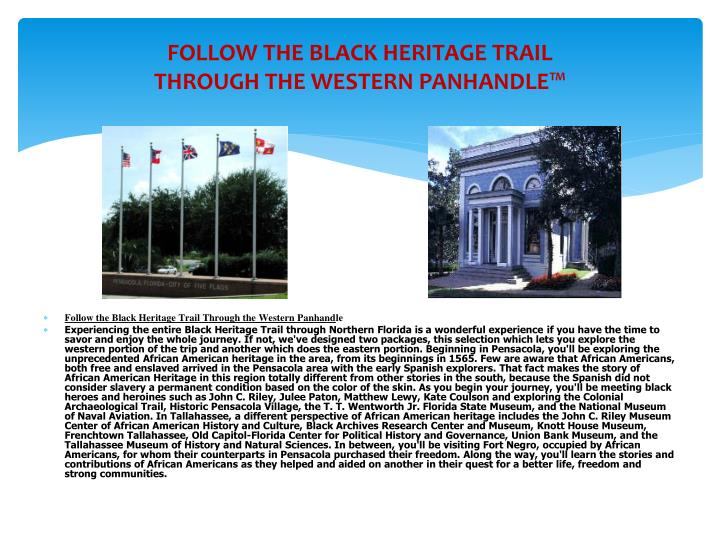 Ppt northwest florida black heritage trail driving vacations and tours powerpoint - The mobile little house the shortest way to freedom ...