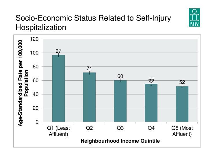 Socio-Economic Status Related to Self-Injury Hospitalization
