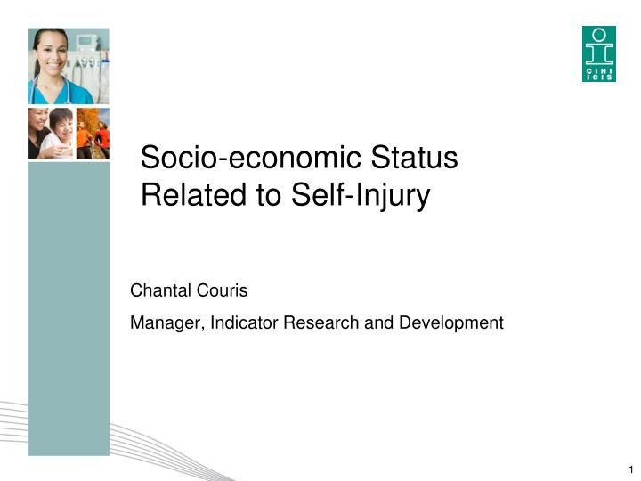 Socio economic status related to self injury