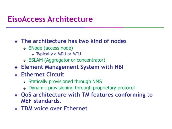EisoAccess Architecture