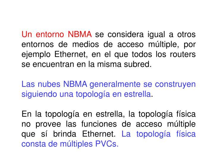 Un entorno NBMA