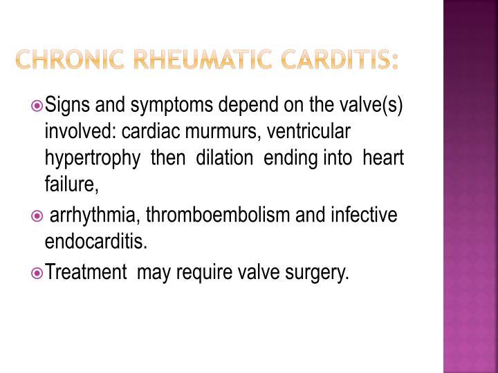 Chronic Rheumatic