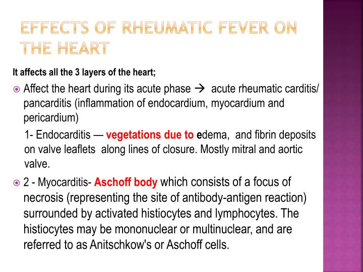 Effects of Rheumatic Fever on the Heart