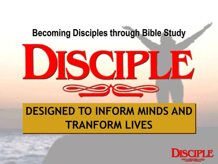Becoming Disciples through Bible Study