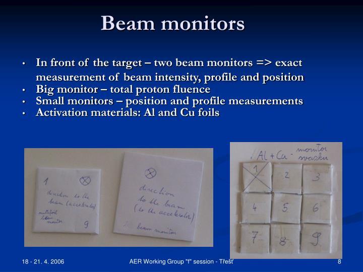 Beam monitors