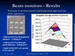 beam monitors results