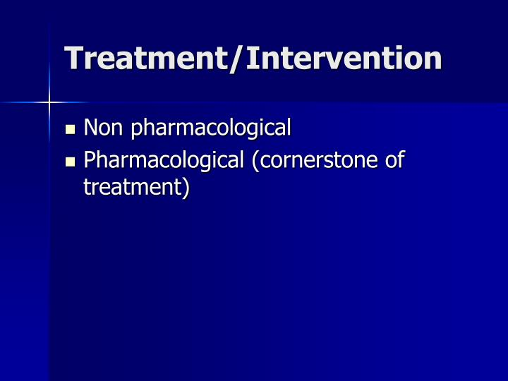 Treatment/Intervention