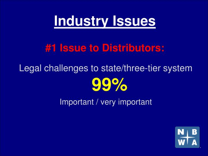 Industry issues 1 issue to distributors