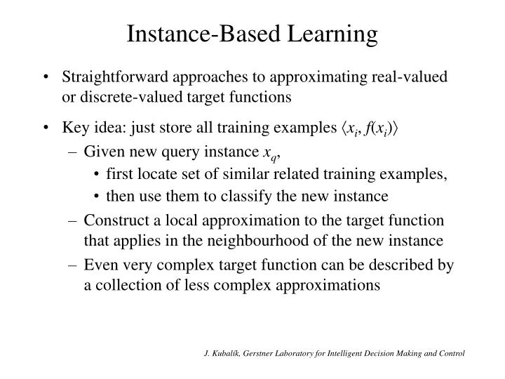 Instance based learning1