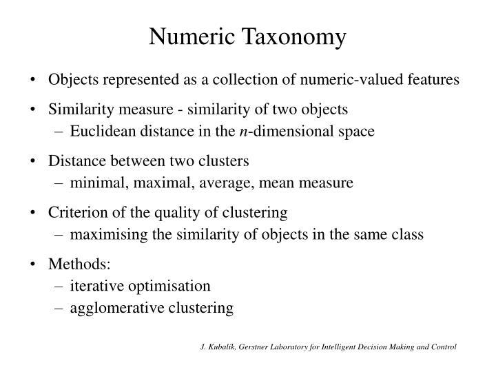 Numeric Taxonomy