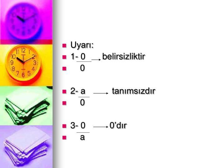 Uyar: