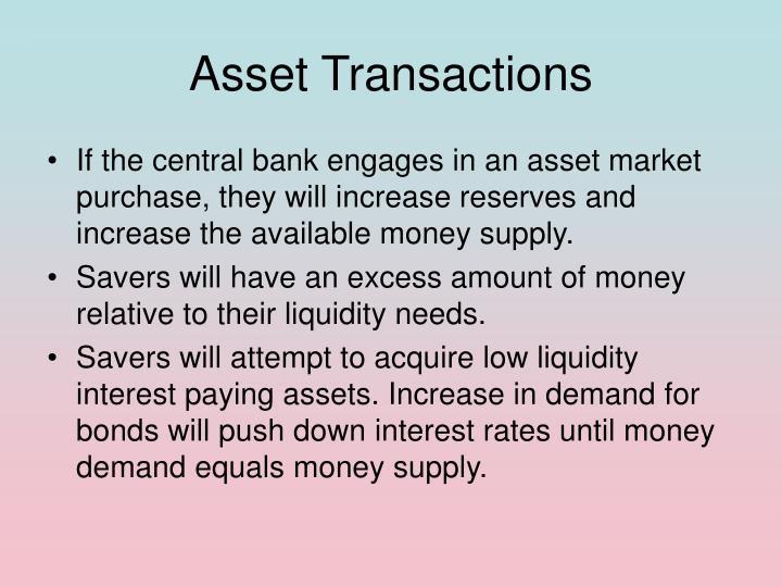 Asset Transactions