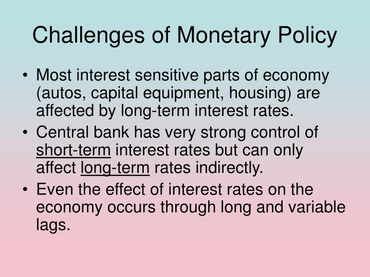 Challenges of Monetary Policy