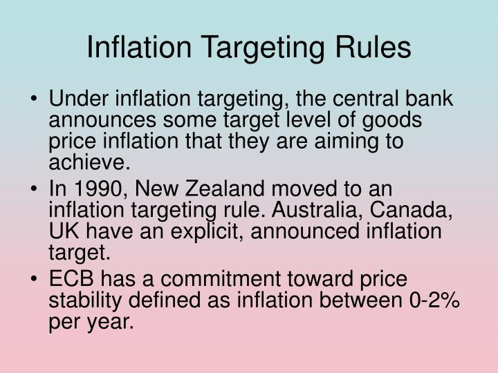 Inflation Targeting Rules