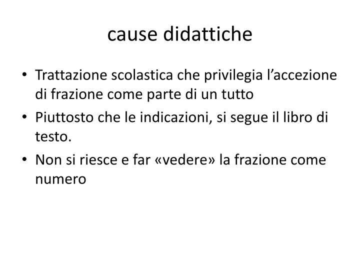 cause didattiche