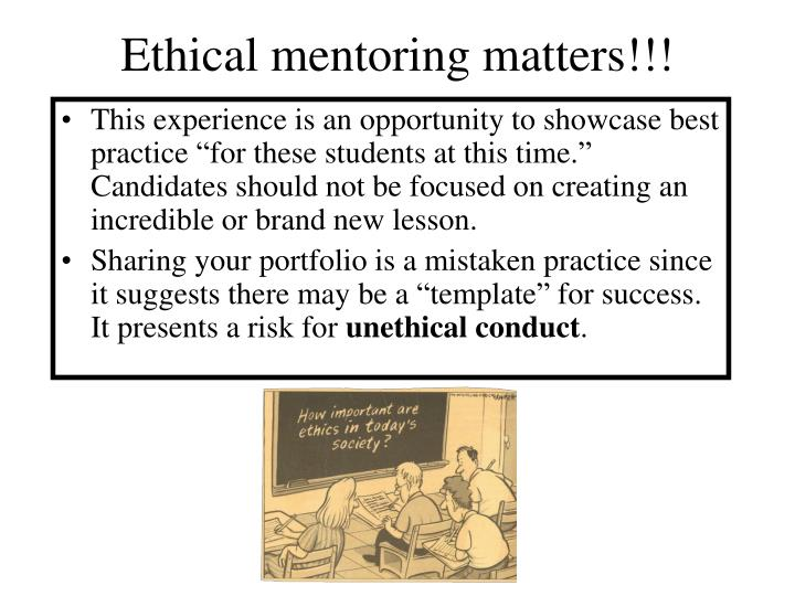 Ethical mentoring matters!!!