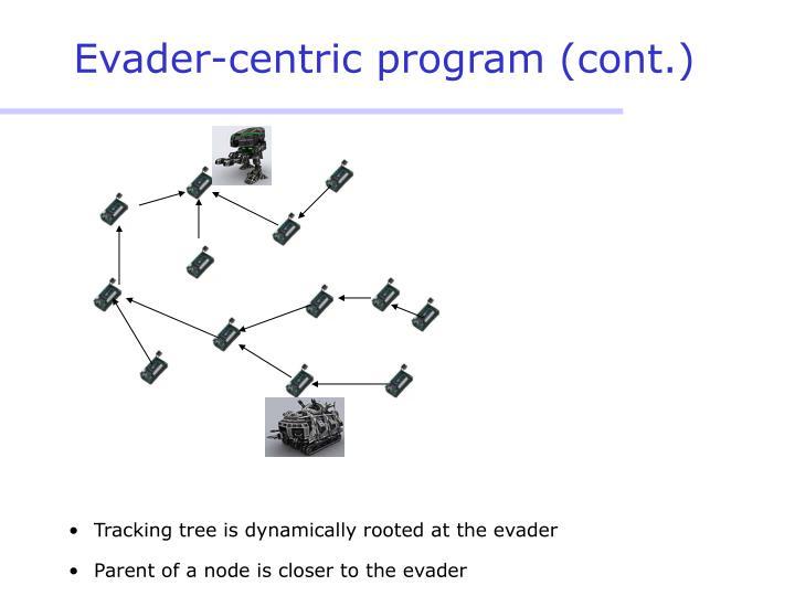 Evader-centric program (cont.)