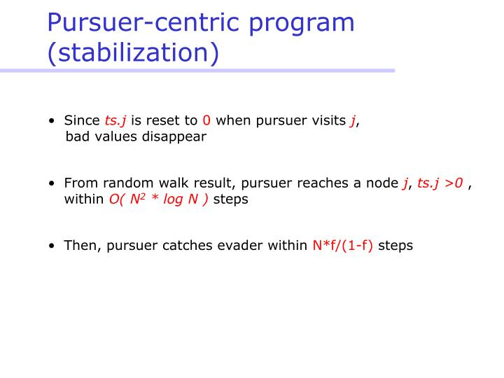 Pursuer-centric program