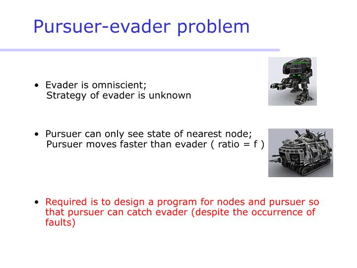 Pursuer evader problem